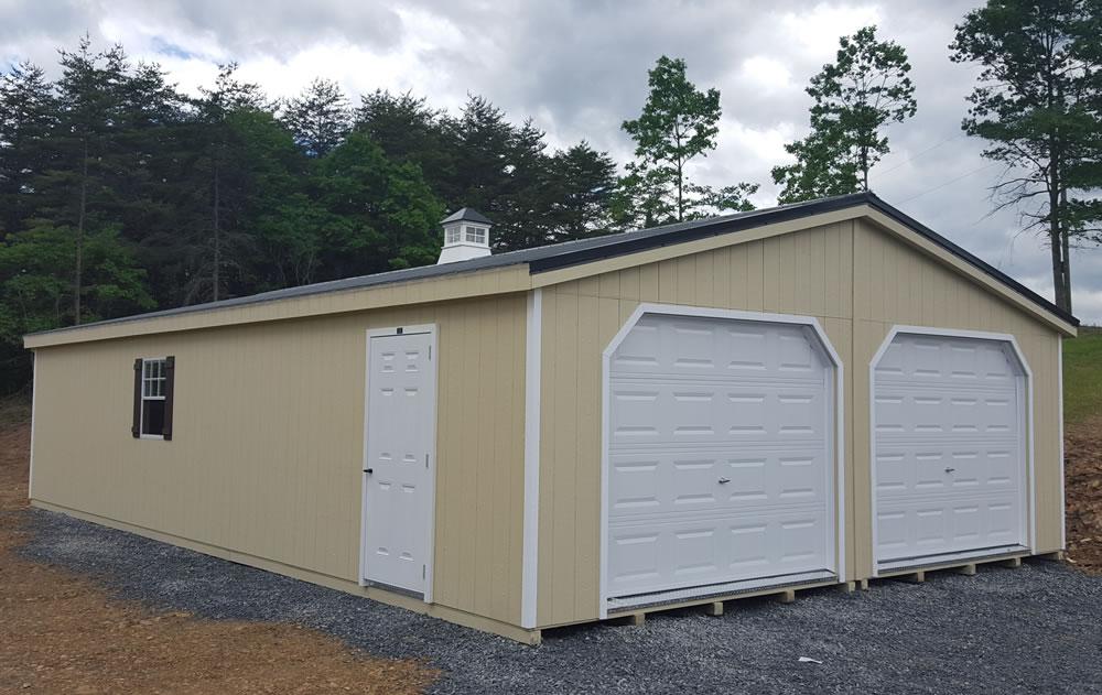 Options for prebuilt garages West Virginia on 24' Garage Door  id=19419